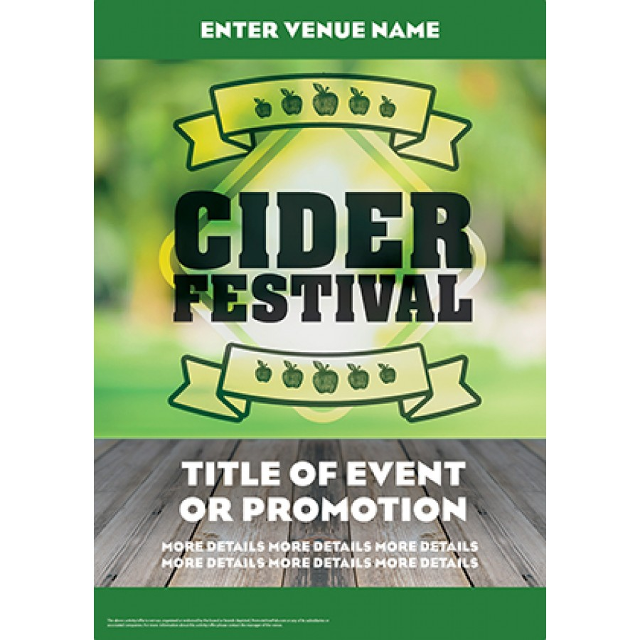 Cider Festival Green Poster (A2)
