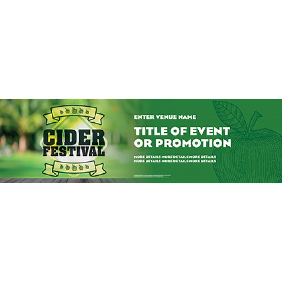 Cider Festival Green Banner (Lrg 8')