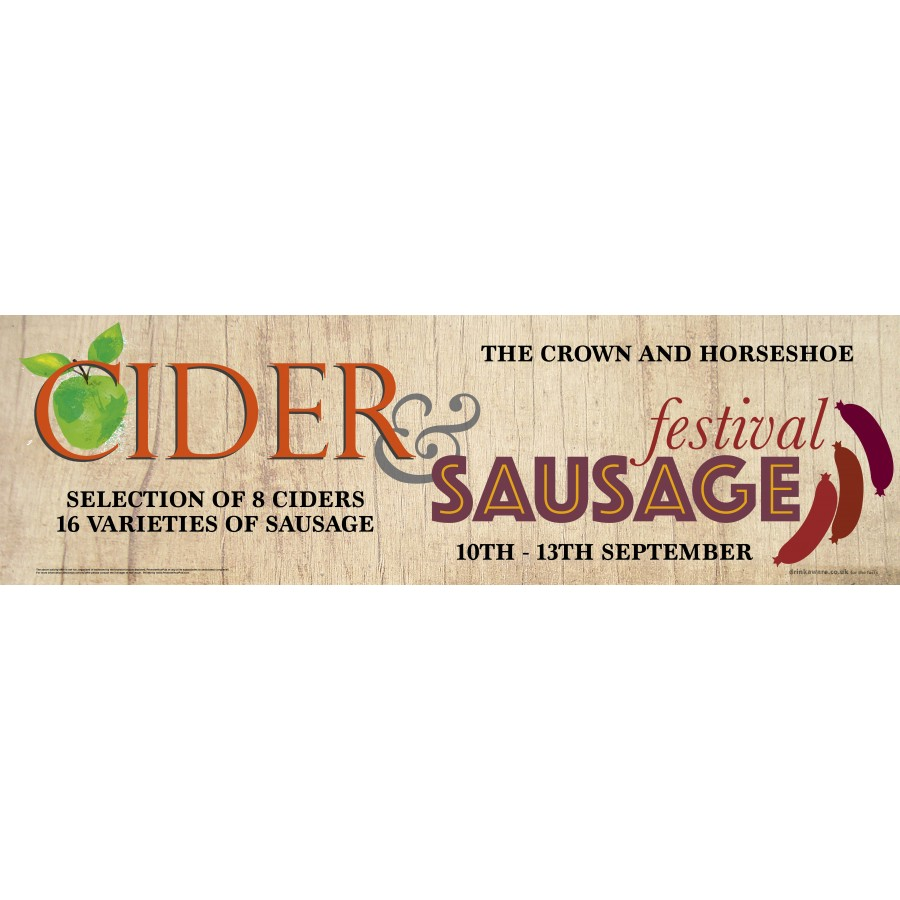 Cider and Sausage Festival Banner (XL10')