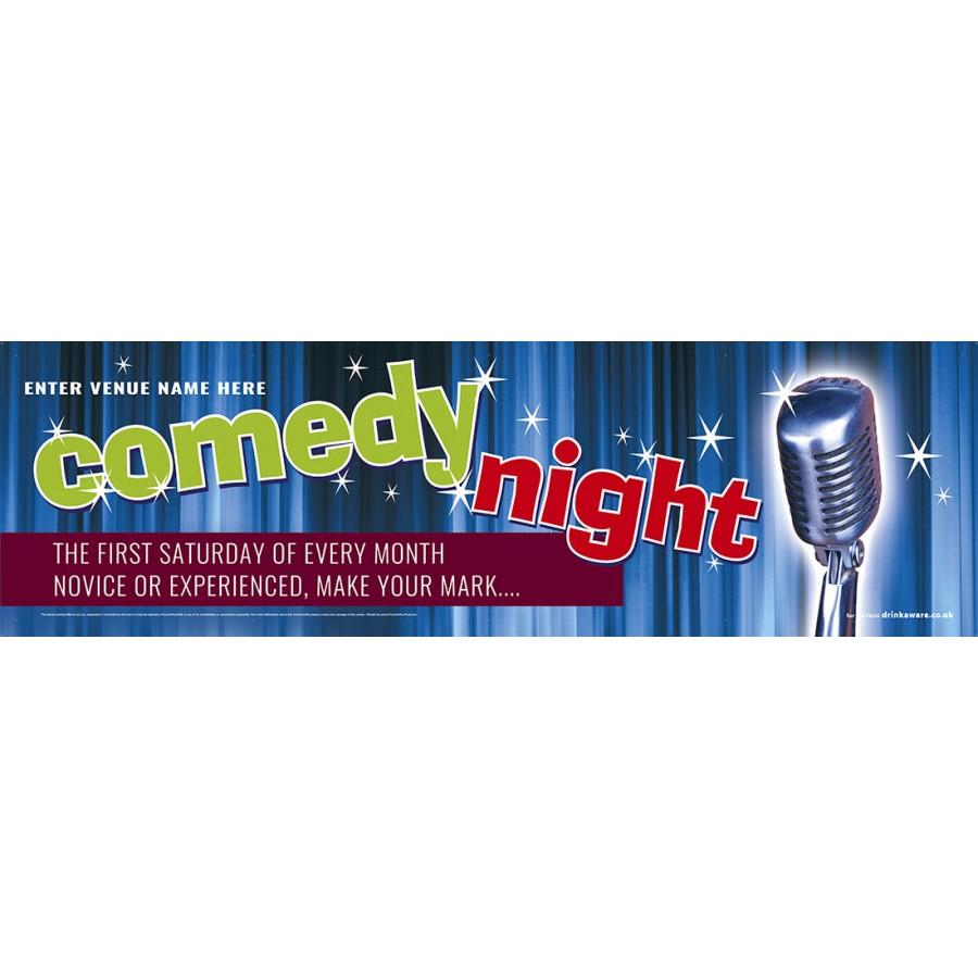 Comedy Night Banner (XL10')