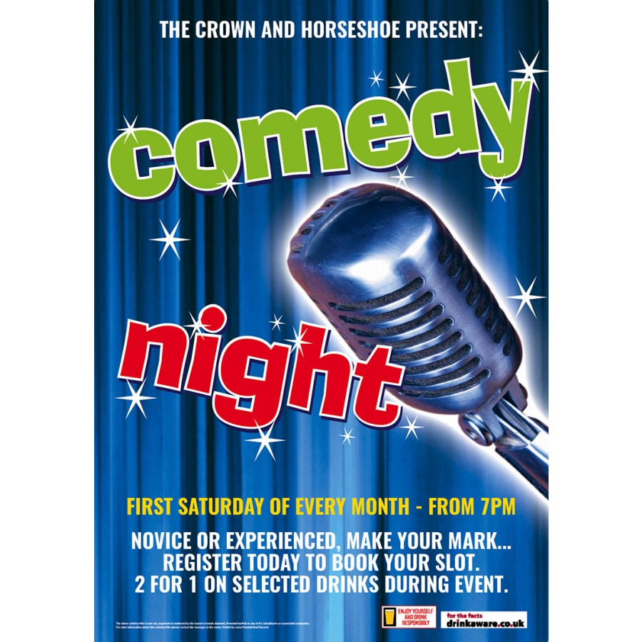 Comedy Night Poster (A2)