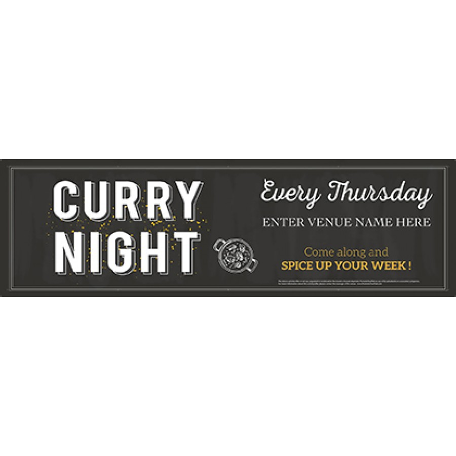 Curry Night Banner (Chalk) (Lrg)