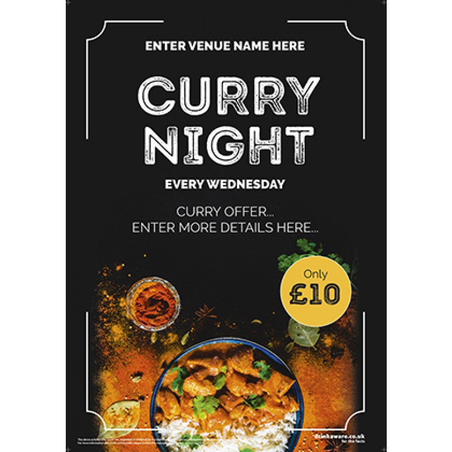Curry Night Poster (photo) (A2)