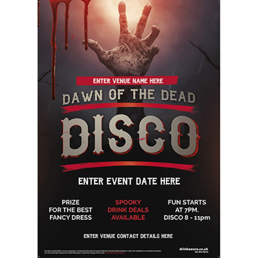 Halloween Disco Party Poster (Dawn of the Dead) (A1)