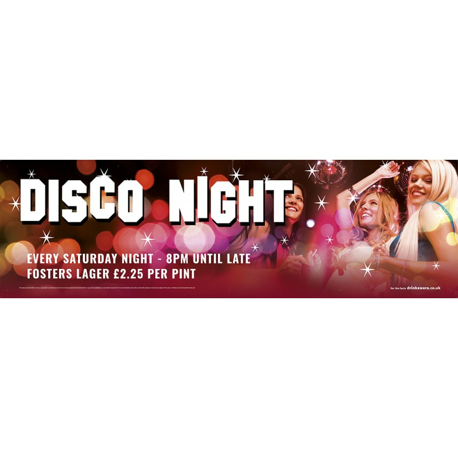 Disco Night Banner (XL10')