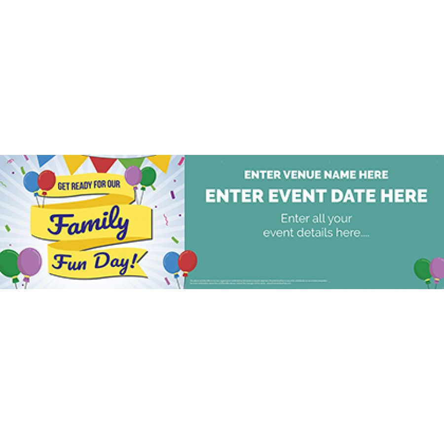 Family Fun Day Banner (1a) (Lrg)