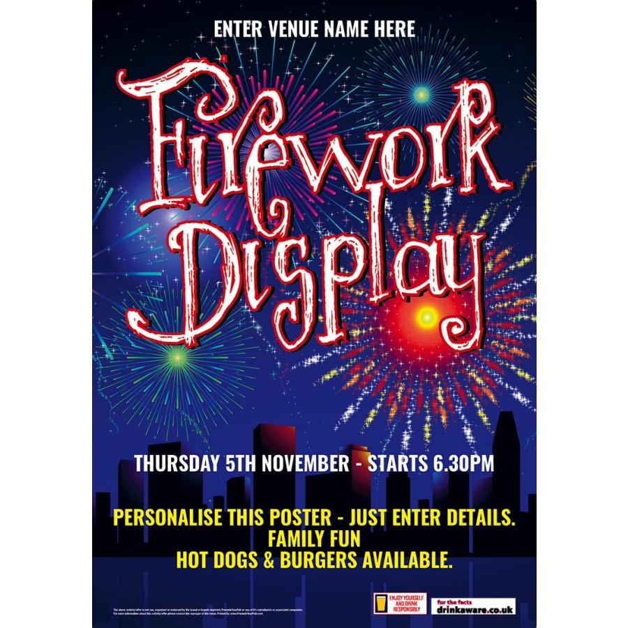 Firework Night Poster (A2)