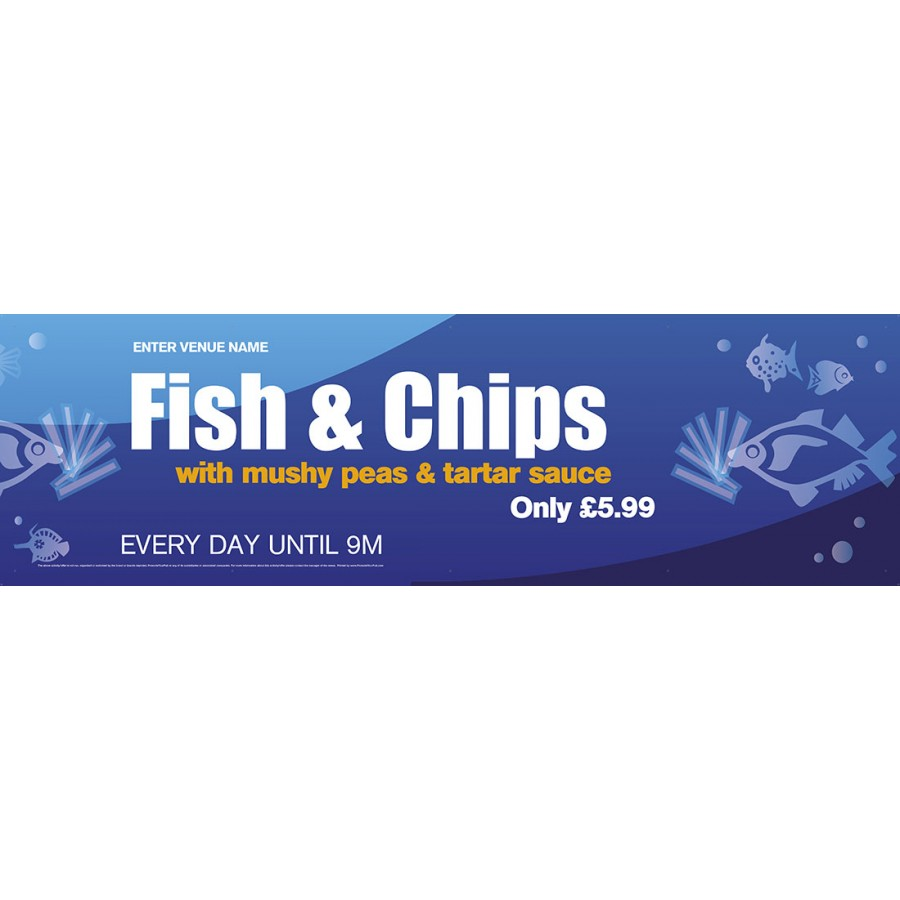 Fish & Chips Banner (XL10')