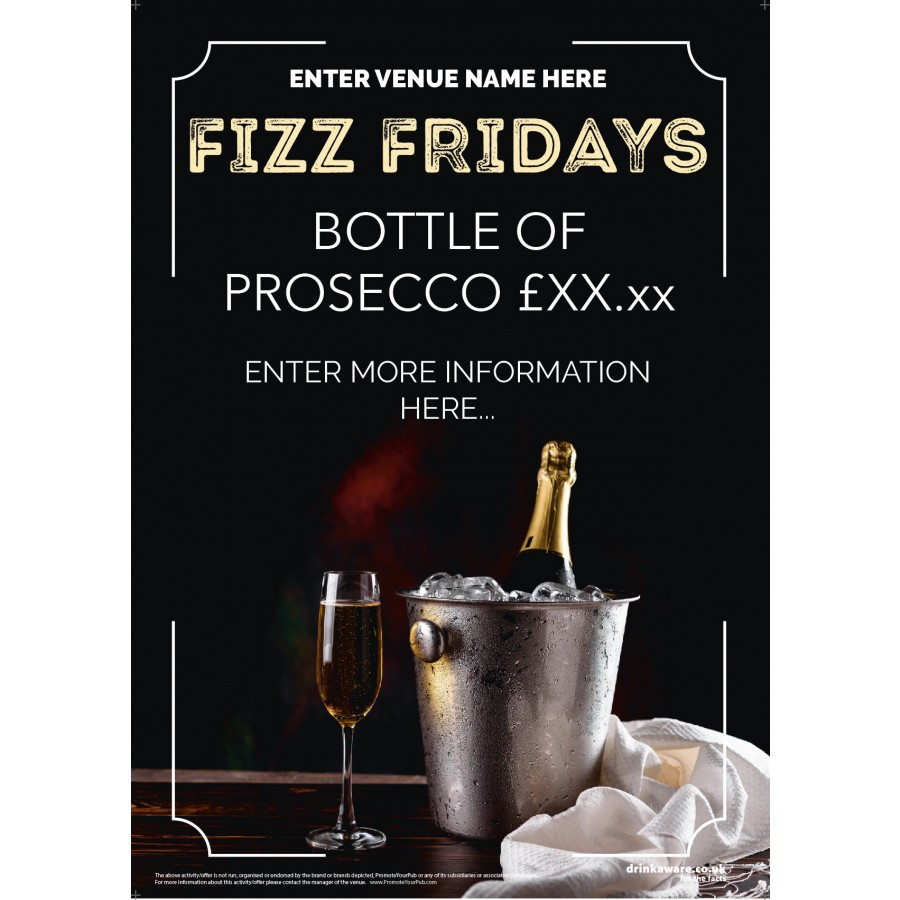 Fizz Friday Poster v1 (A2)