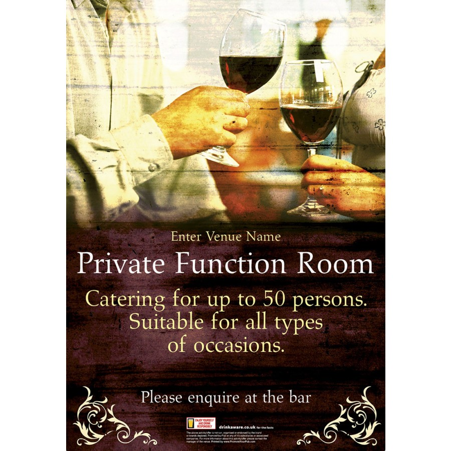 Function Room Outdoor Sign (A1)