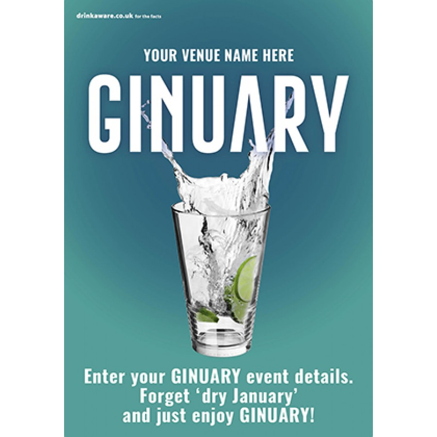 Ginuary option1 Poster (A2)