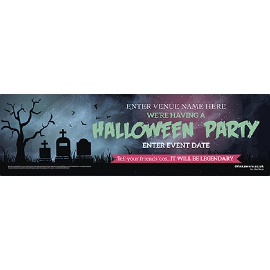 Halloween Party Banner (Grave) (Lrg)