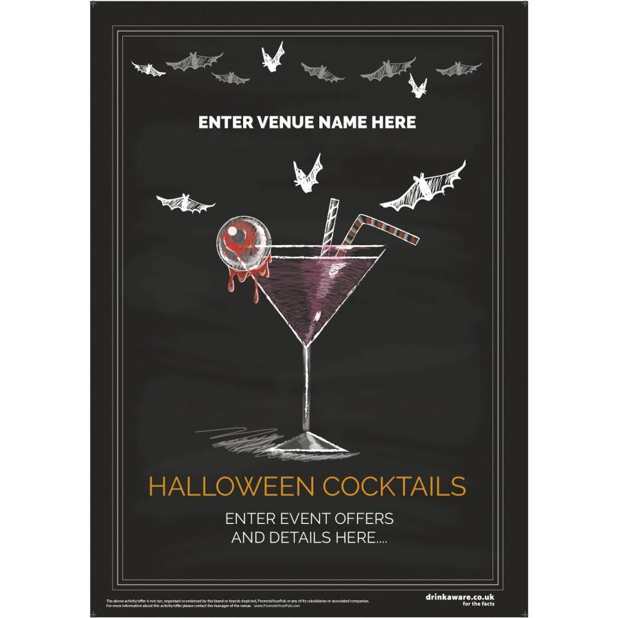 Halloween Cocktails Poster