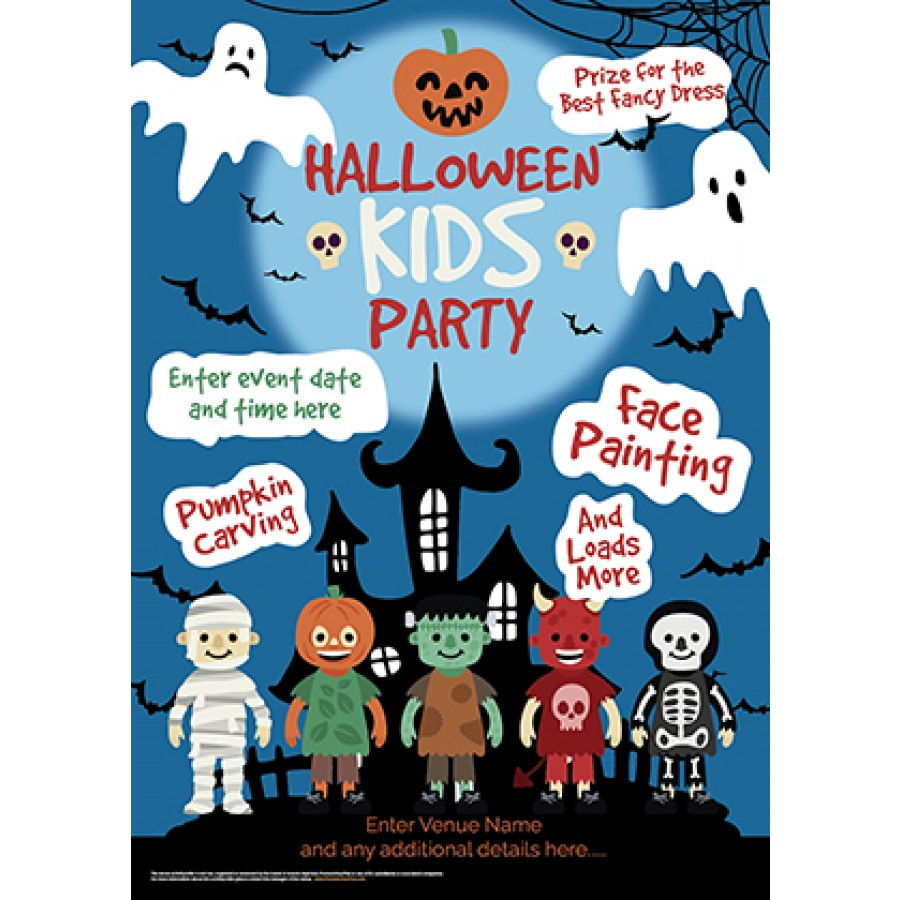 Kids Halloween Party Poster (A4)