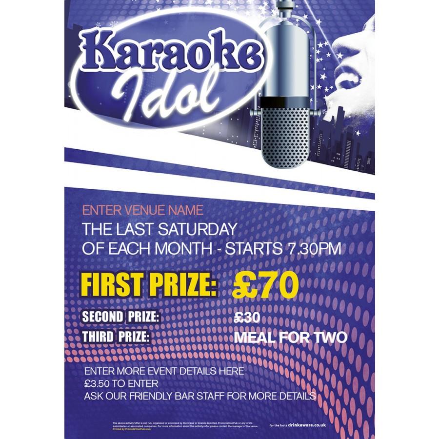 Karaoke Idol Poster (A3)