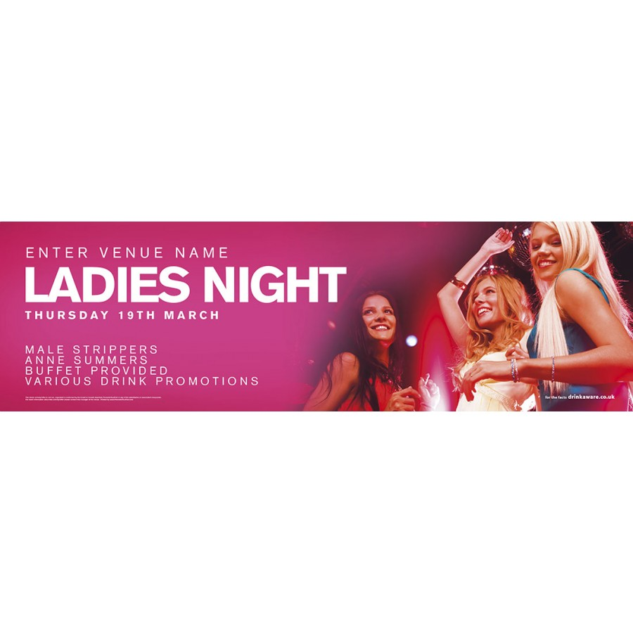 Ladies Night Banner (Lrg)