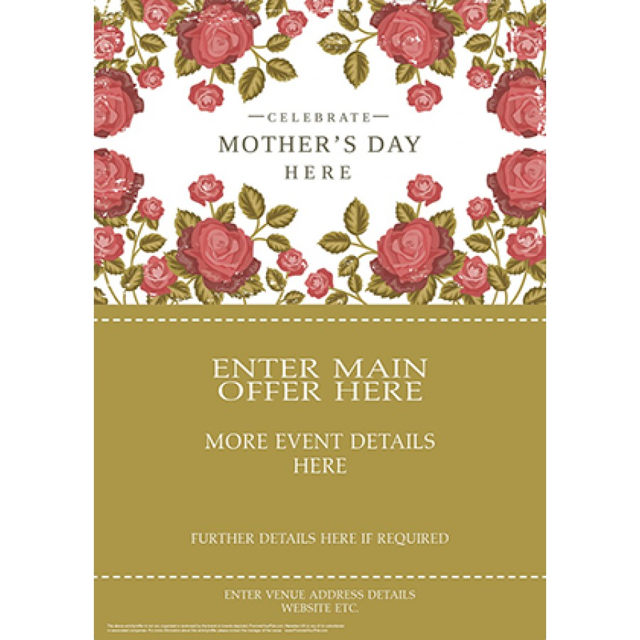 Mothers Day Roses Flyer (A5)