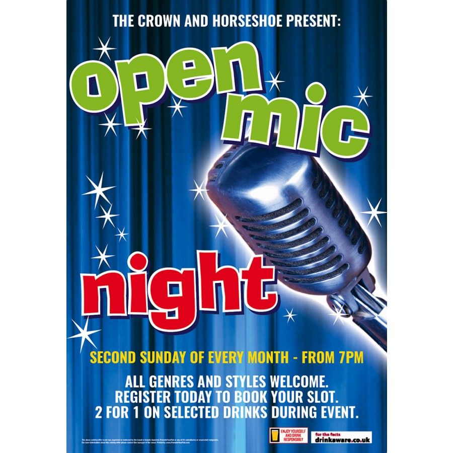 Open Mic Night Poster (A2)
