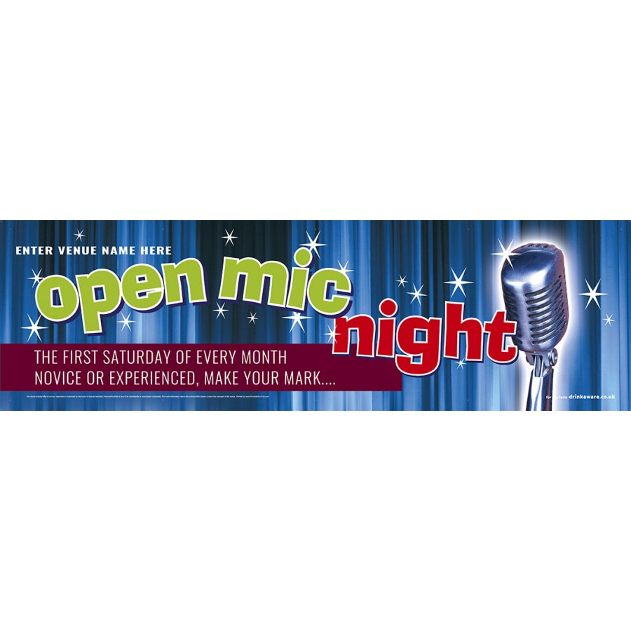 Open Mic Night Banner (XL10')