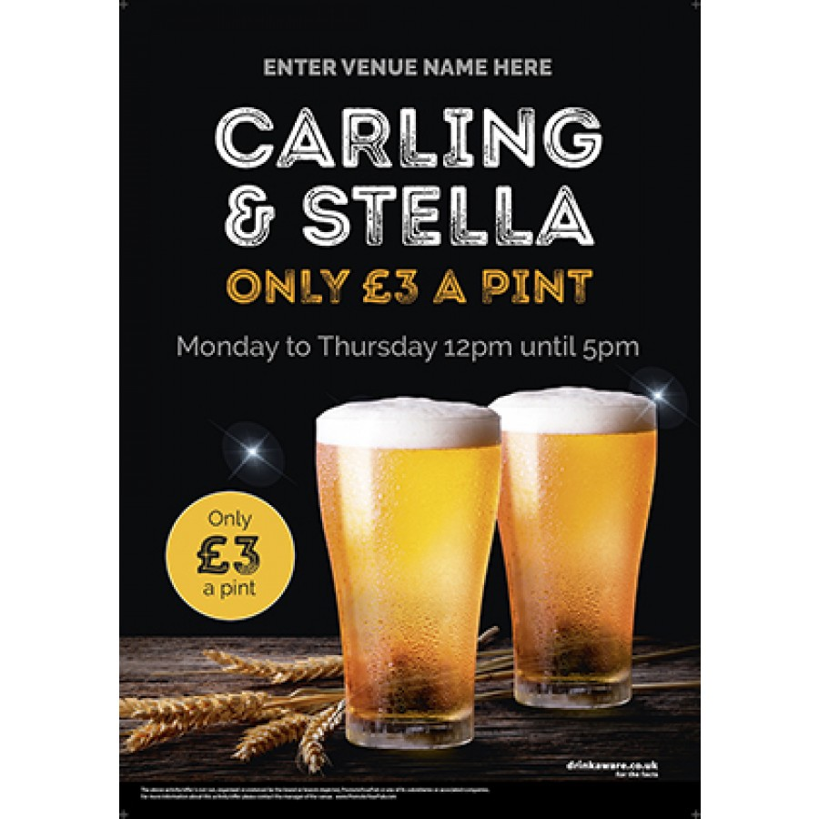 Pint Offer Poster (photo) (A3)