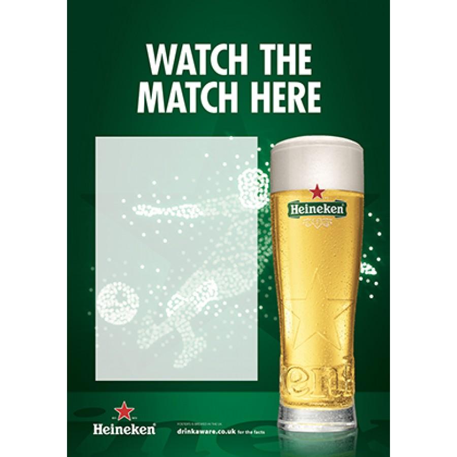 Heineken Football 'watch the match here' Empty Belly Poster