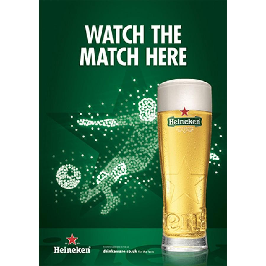 Heineken Football 'watch the match here' Generic Poster
