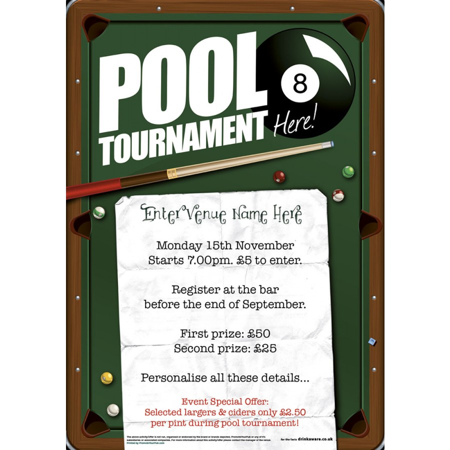 Pool Tournament Poster (A2)