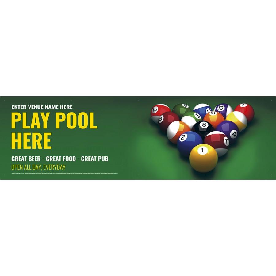 Play Pool Banner (XL10')