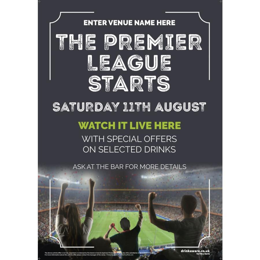 The Premier League Starts Poster (photo) (A4)