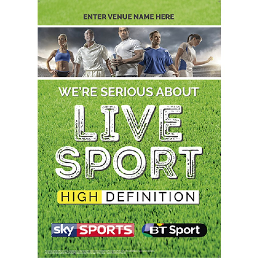 Serious About Live Sport Poster (Sky & BT) v1