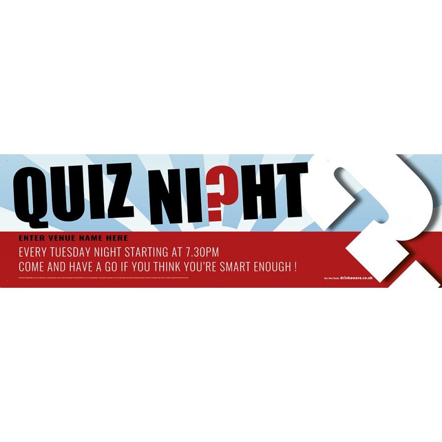 Quiz Night Banner (XL10')