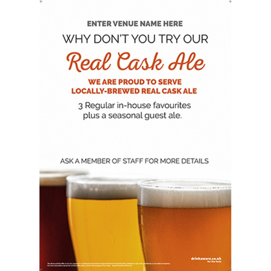 Real Cask Ale Poster (photo v2) (A2)