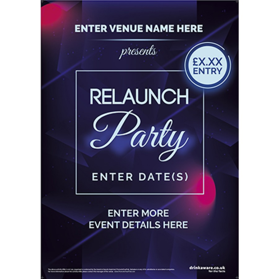 Relaunch Party Poster (A3)