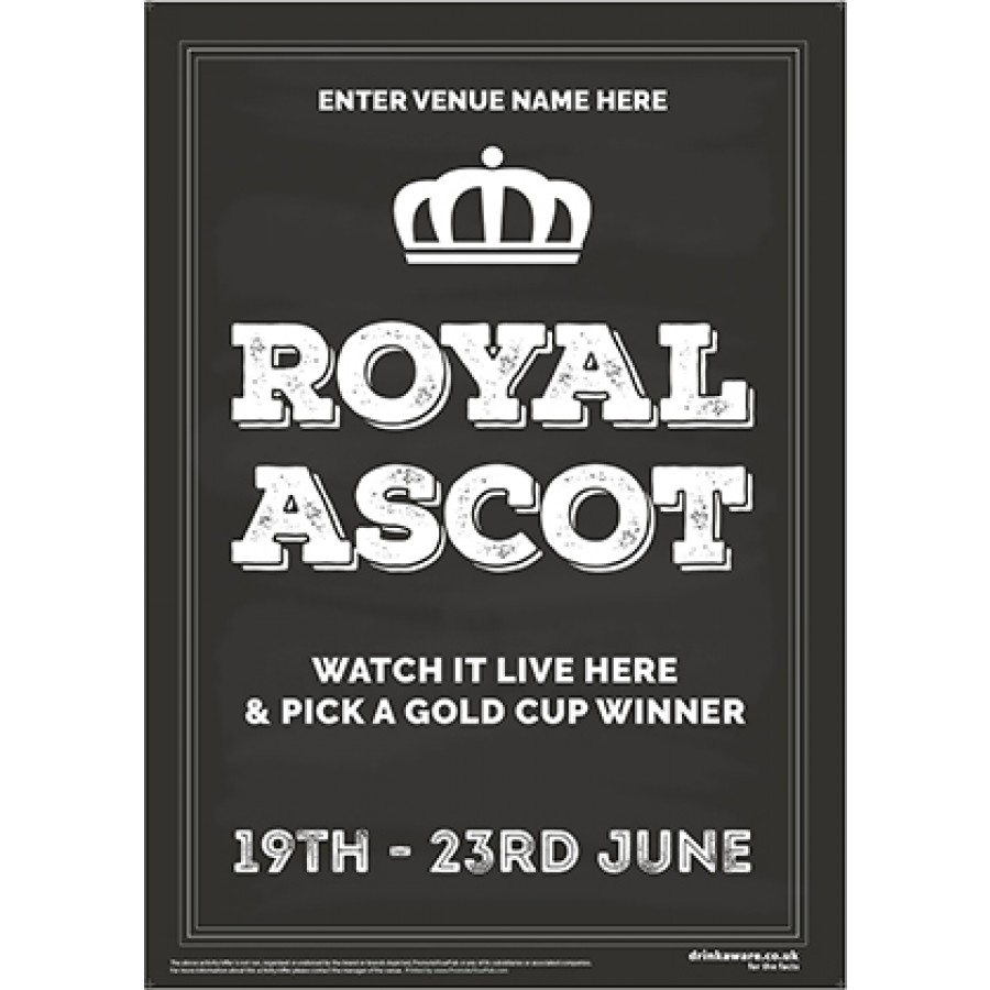 Royal Ascot Racing (chalkboard) Poster (A2)