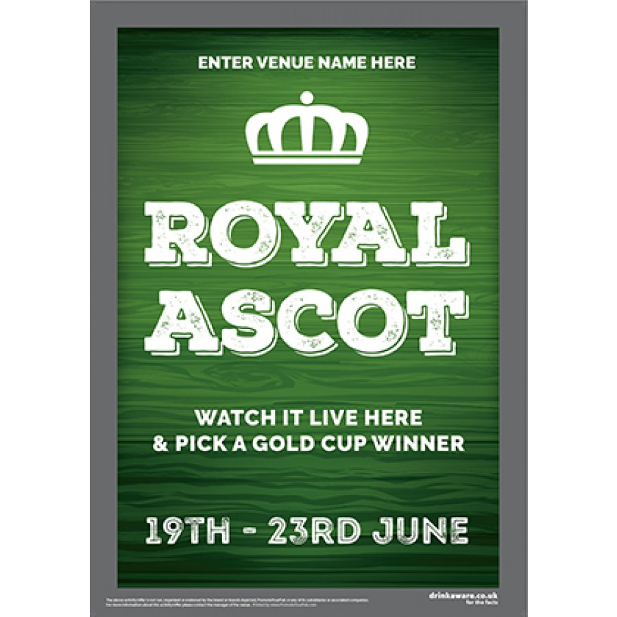 Royal Ascot Racing (green) Poster (A2)