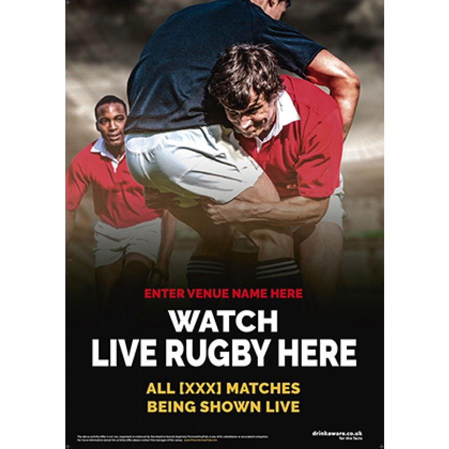 Rugby Poster (photo v3) (A2)