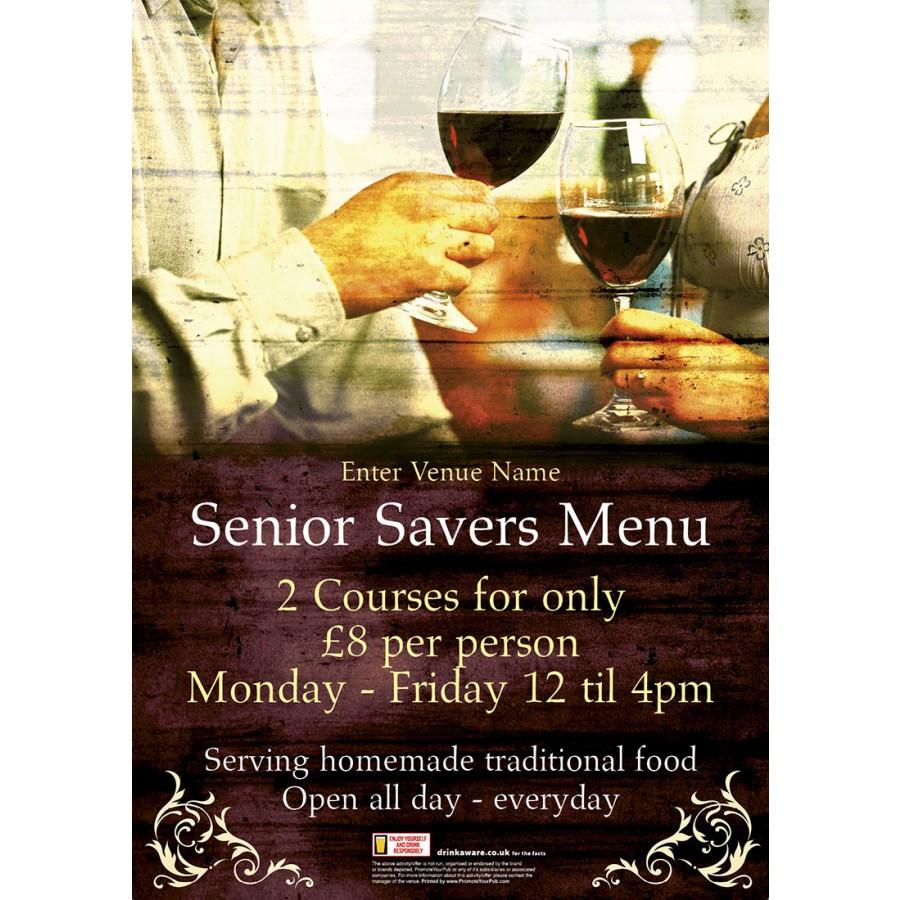 Senior Savers Poster (A2)