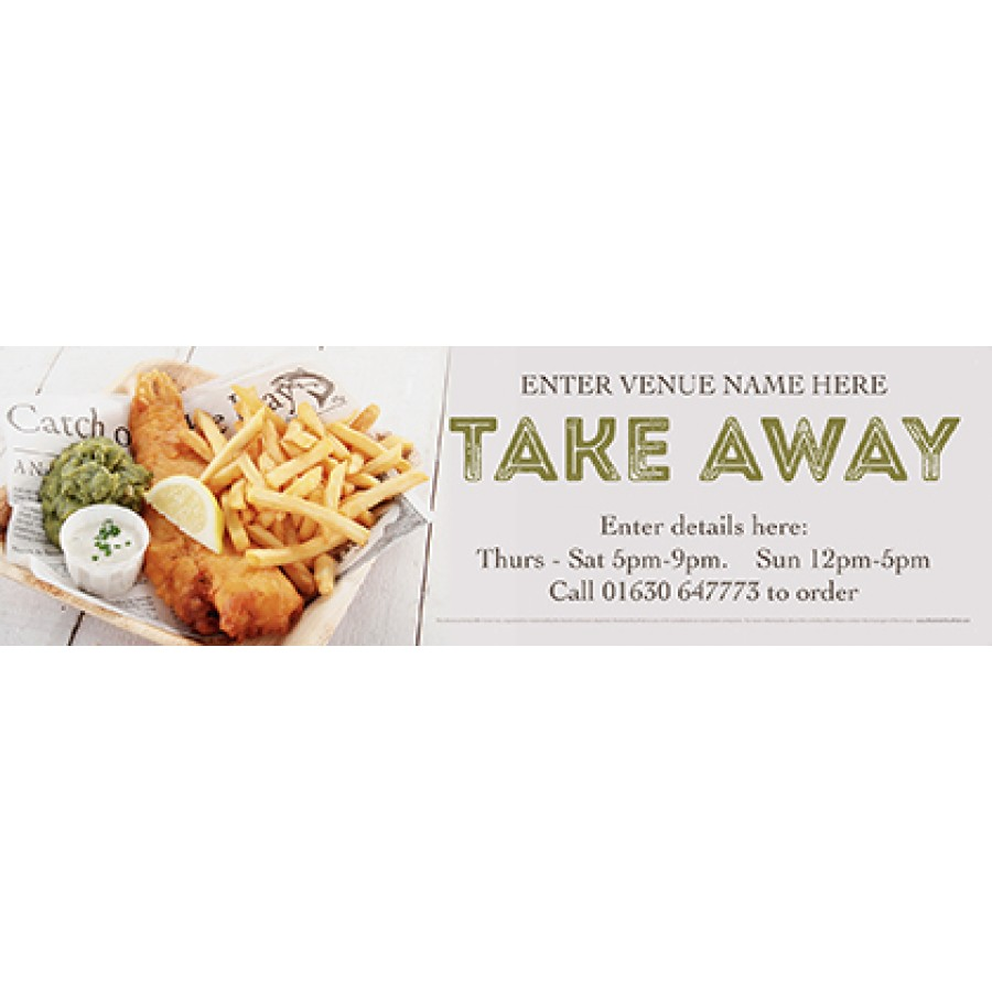 Take Away 'Fish & Chips' Banner