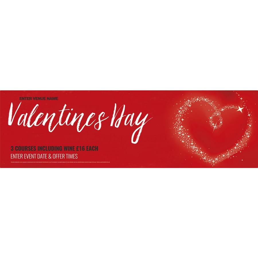 Valentines Day Banner red (Lrg)